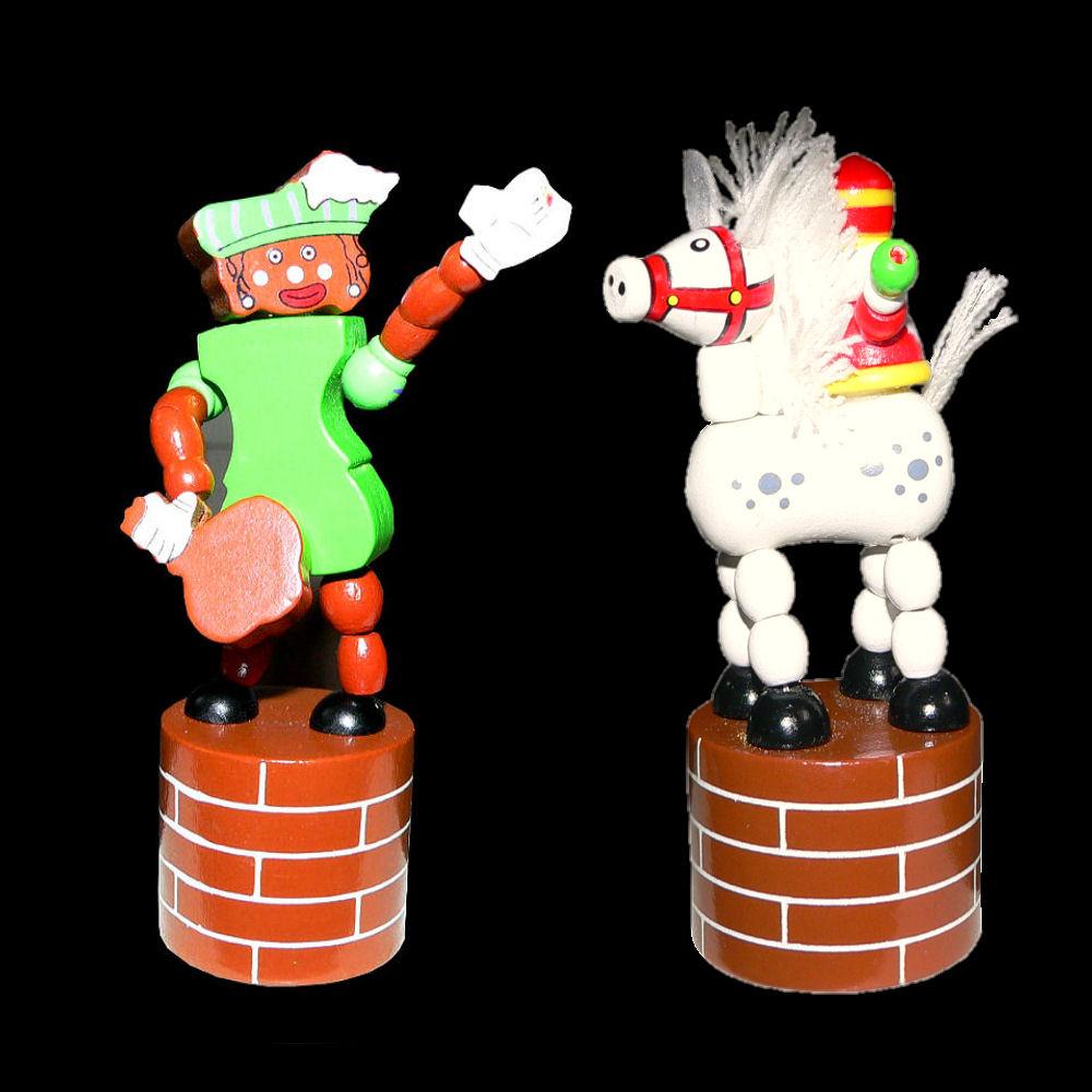 Beweegbare Sinterklaas en Piet