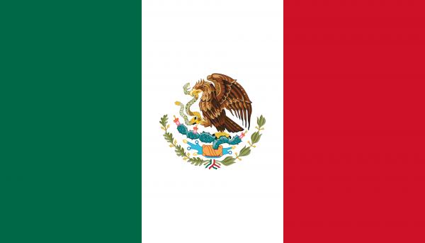 Vlag Mexico 100x150cm Glanspoly
