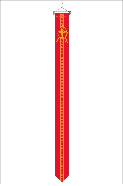 Sinterklaas wimpel 25x300cm Recht
