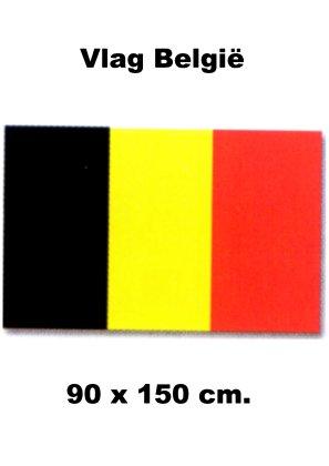 Vlag Belgie   Belgische vlaggen 90x150cm budget