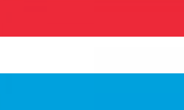 Tafelvlaggen Luxemburg 10x15cm   Luxemburgse tafelvlag