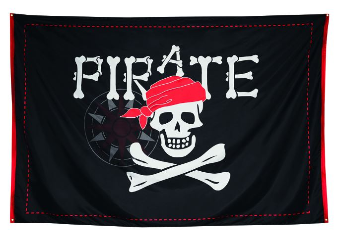 Vlag piraten xxl 200x300cm banier, spandoek