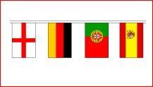 Vlaggen pakket met 24 grote vlaggen van alle deelnemende landen