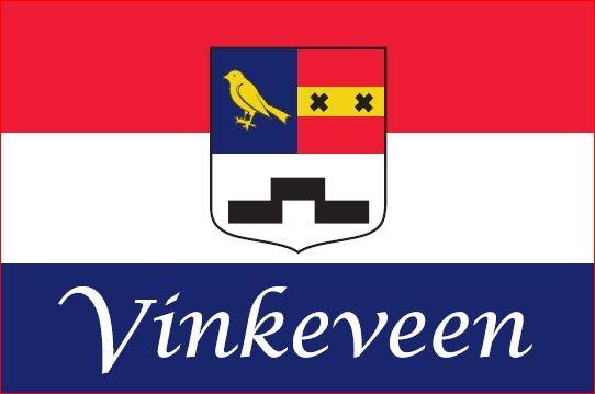 Vlag Vinkeveen 20x30cm boot vlaggetje Vinkeveense plassen