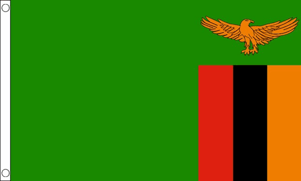 Vlag Zambia 90x150cm Best value