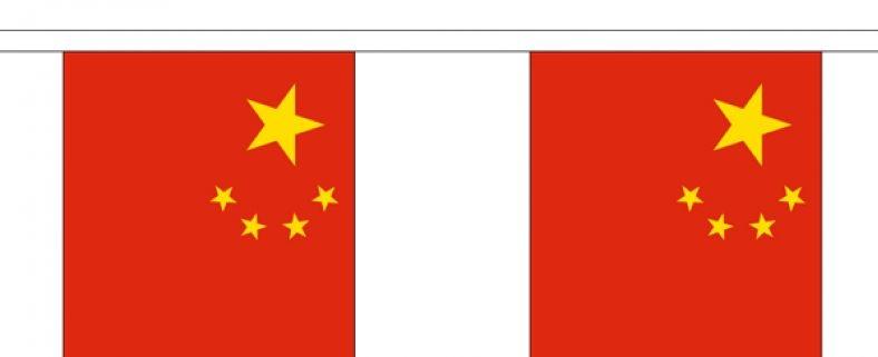 Vlaggenlijn China Chineese vlaggenlijn 3m