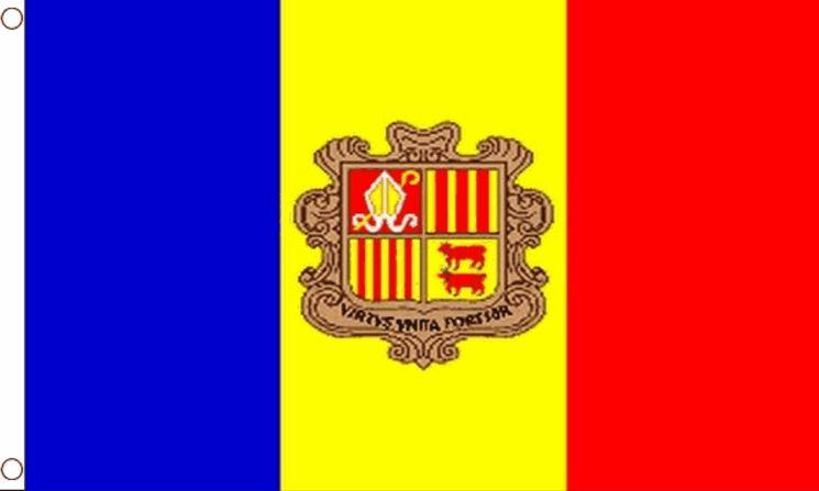 vlag Andorra met wapen 90x150cm Best Value
