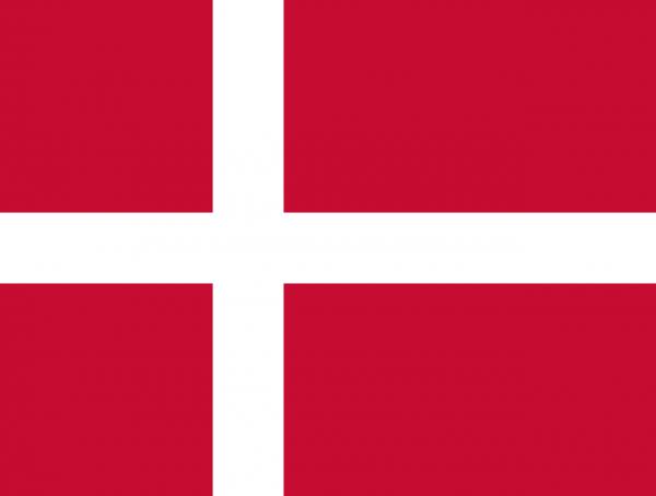 Vlag Denemarken 100x150cm Glanspoly