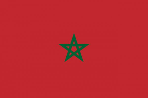 Vlag Marokko 100x150cm Glanspoly