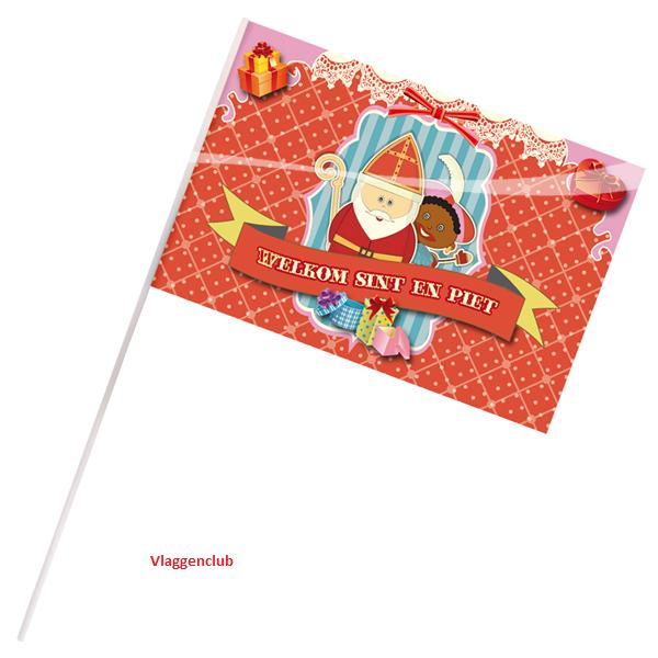 Zwaaivlaggetjes Sint en Piet vintage zwaaivlaggen Sinterklaas