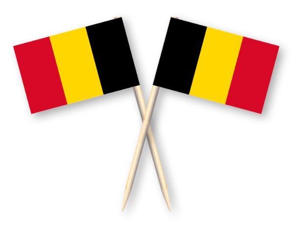 Cocktailprikkers met Belgische vlag, België Kaasprikkers, 50 stuks