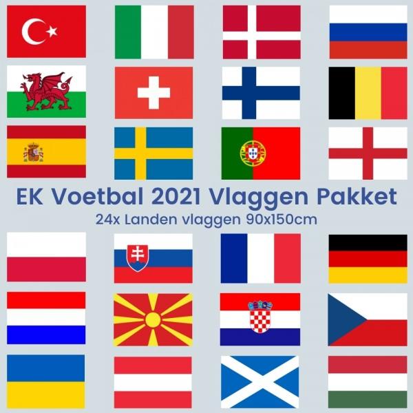 Vlaggenpakket EK Voetbal 90x150