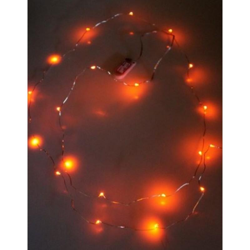Ledsnoer lichtdecoratie 20 lampjes Oranje