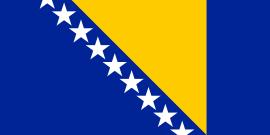Tafelvlaggen Bosnië en Herzegovina 10x15cm | Bosnische tafelvlag