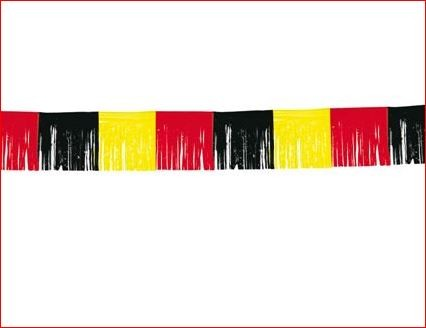 Vlaggenlijn Belgie Franjes slinger EK voetbal feestversiering rode duivels