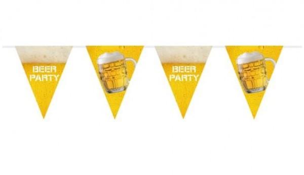 Bierparty vlaggenlijn 6m XL wimpels