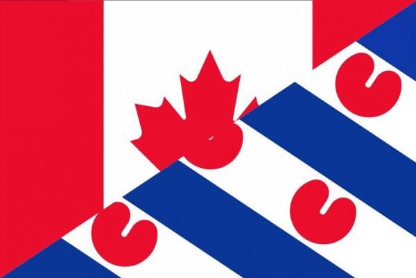 Grote vlag Canada Friesland