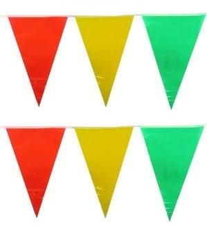 Vlaggenlijn rood/geel/groen 10m Carnaval Limburg B1 Brandvertragend
