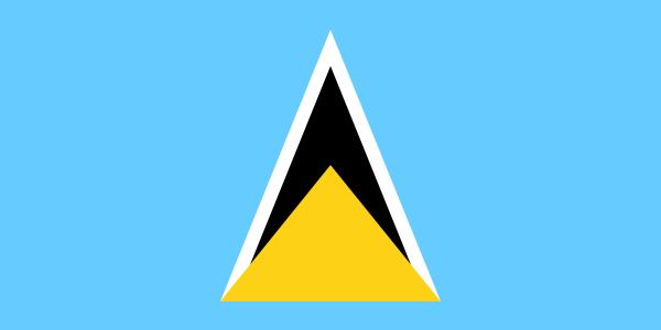 Tafelvlaggen Saint Lucia 10x15cm | Saint Lucia's tafelvlag