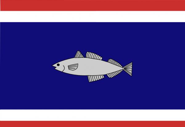 Vlag gemeente Urk | Urker vlaggen 20x30cm