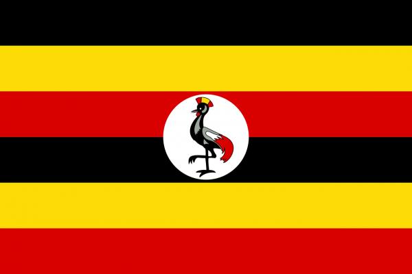 Tafelvlag Oeganda met standaard