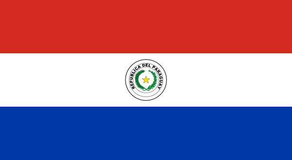 tafelvlaggen Paraguay 10x15cm | Paraguayaanse tafelvlag