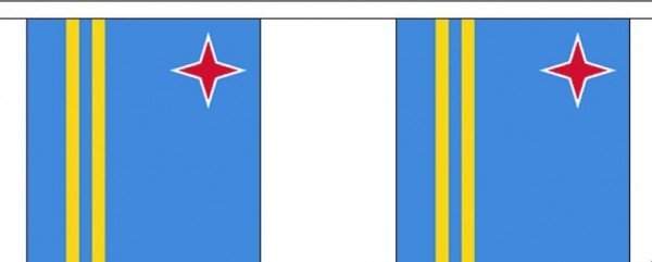 Vlaggenlijn Aruba Arubaanse vlaggenlijnen 3m