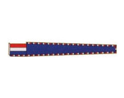 Vleugel blauw getekend 200cm masttopwimpel