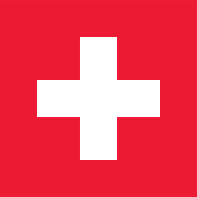 Zwitserse vlag vlaggen Zwitserland 100x100