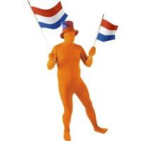 Oranje pak skin suit dit pak past iedereen Morphsuit