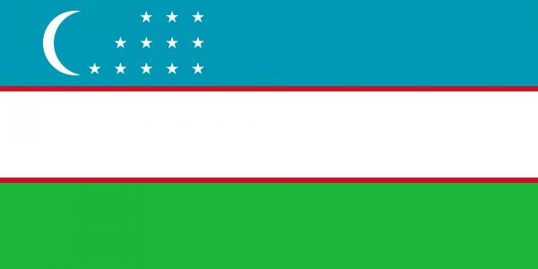 Vlag Oezbekistan 100x150cm Glanspoly