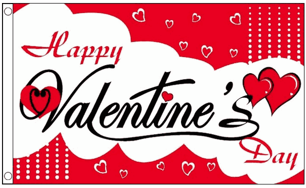 Vlag valentijnsdag 90x150cm