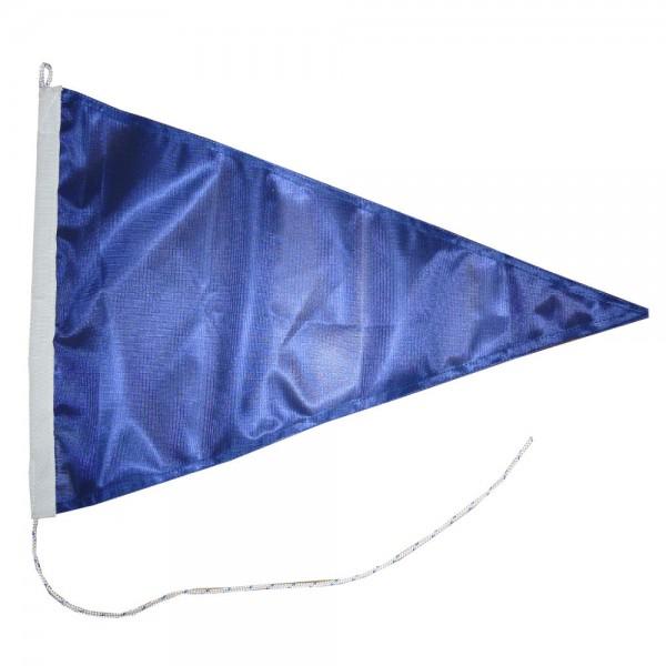 Blauwe wimpel puntvlag 50x75cm