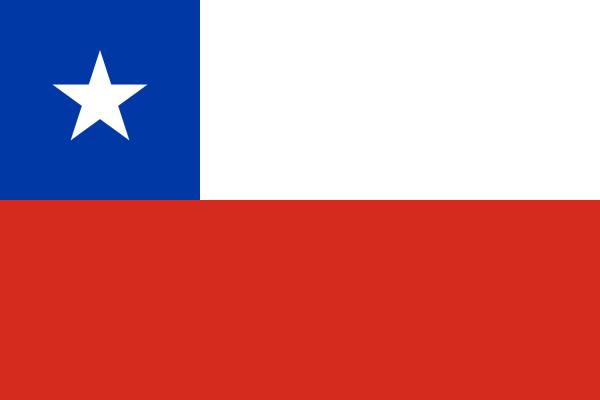 tafelvlaggen Chili 10x15cm | Chileense tafelvlag