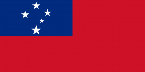 tafelvlaggen Samoa 10x15cm | Samoaanse tafelvlag