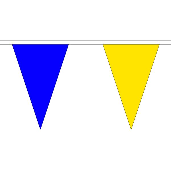 Vlaggenlijn blauw/geel ofwel geel/blauw 20m topkwaliteit stof