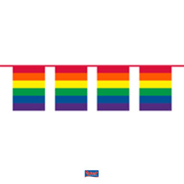Regenboog vlaggenlijn 10m