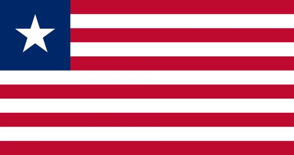 Vlag Liberia 100x150cm Glanspoly