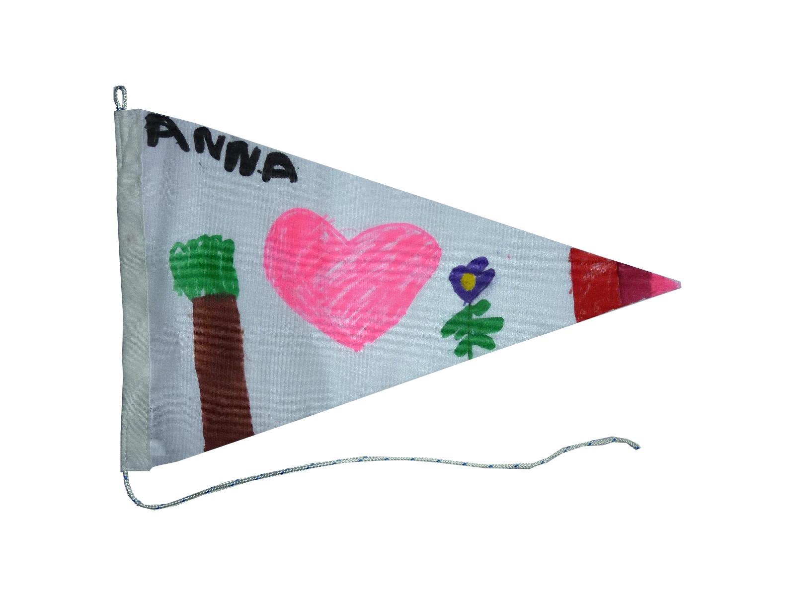 Voorbeeld wimpel vlaggenclub maak je eigen vlaggenlijn
