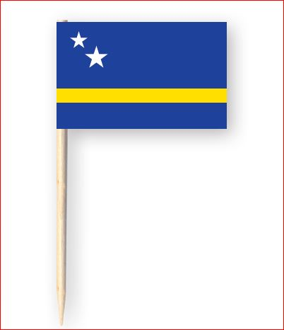 Partyprikkers Curacao Curacaose cocktail vlag prikkers