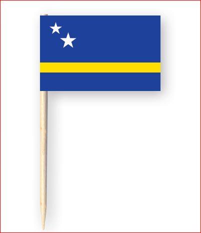 Cocktailprikkers vlag Curacao vlag 50 stuks