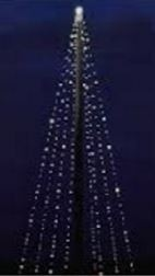 Kerstboom led verlichting lichtboom xxl voor vlaggenmast 8m