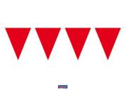 Vlaggenlijn effen Rood 10m