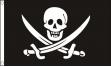 Piratenvlag Jack Rackham 60x90cm