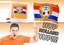 Zwaai vlag op stok Leeuw RWB EK | WK koningsdag