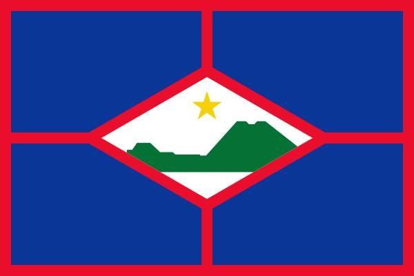 Vlag Sint Eustatius 200x300cm grote mastvlag