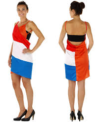 Wikkel jurk Nederlandse vlag EK | WK en Koningsdag S/M