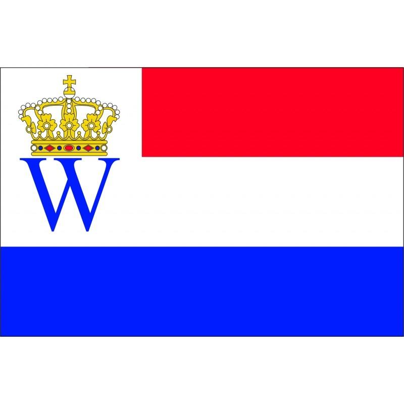 200 jaar Koninkrijk der Nederlanden vlaggen 70x100cm oud hollands