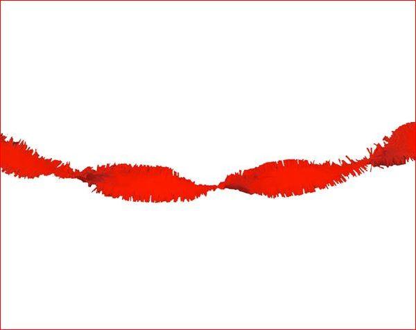 Draaiguirlande Rood Brandvertragend Rode feestversiering 6m1
