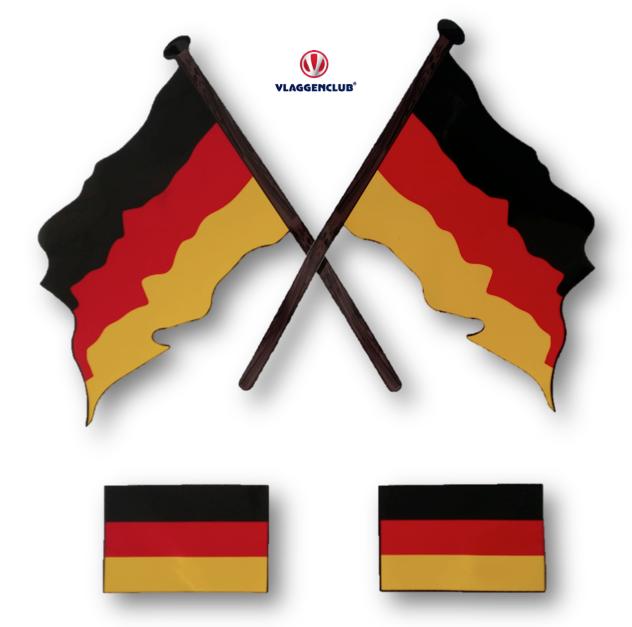 Stickers Duitse vlag 4 stuks
